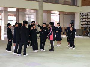 1年生劇の部分練習の写真
