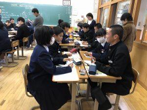 道徳授業の写真1