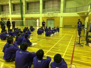 体育の授業の写真