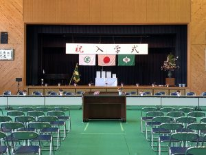 入学式準備の写真
