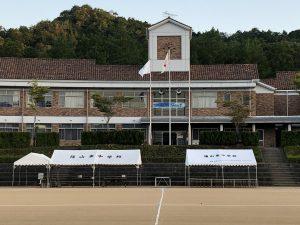 体育祭当日本部テント付近