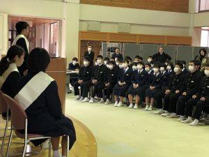 生徒会専門委員長候補立会演説会